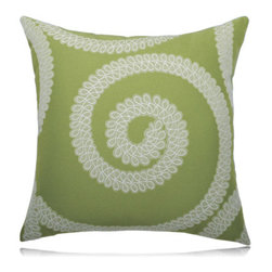 Elaine Smith - spiral kiwi pillow (20x20) - Performance pillows from renowned textile designer Elaine Smith® feature unique fabrics that are both soft and stylish, rich in color, lavish in detail, and impervious to the elements.
