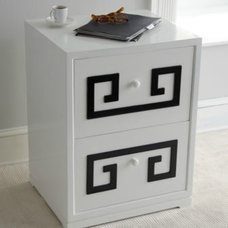"filing cabinets and carts ""Greek Key"" Double Drawer File Box"