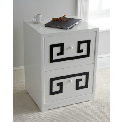 """Filing Cabinets And Carts """"Greek Key"""" Double Drawer File Box"""