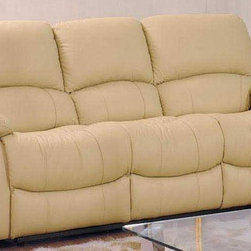 Tonia Italian Leather Sofa - Plush comfortable cushioned seating and rich supple 100% genuine top grade Italian leather combine to create a sofa that is as comfortable to relax into as it is beautiful to look at in the Tonia Italian Leather Reclining Sofa. Featuring smooth recliners in the end seats of the sofa.
