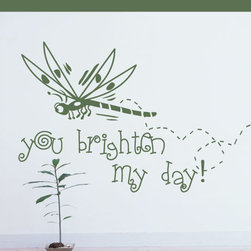 You brighten my day Love & Laughter Vinyl Wall Decal Sticker Mural Quotes Words - Vinyl Wall Quotes are an awesome way to bring a room to life!