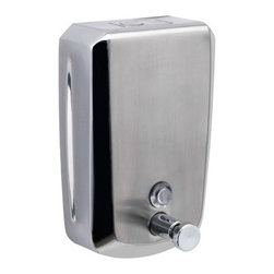Gedy - Wall Mounted Stainless Steel 1200 ml Soap Dispenser - Contemporary, wall mounted 1200 ml soap or lotion dispenser.