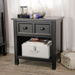 Fashion Bed Group - Casey 1 Drawer Nightstand - Black - B50C6N - Shop for Nightstands from Hayneedle.com! Sure we know you're most likely to be asleep when you're near the Casey 1 Drawer Nightstand - Black but why shouldn't you wake up to style? Crafted with durable wood finished in a modern black hue this traditional nightstand delivers with cleanly squared lines and a spacious tabletop. One storage drawer boasts a framed front and two simple knobs and an open lower shelf is the spot for books blankets or bulky items.About Fashion Bed GroupFashion Bed Group is a Leggett and Platt Company known for its innovative fashion beds daybeds futons bunk beds bed frames and bedding support. Created in 1991 Fashion Bed Group is a large consolidation of three leading bed manufacturers. Its beds are manufactured of genuine brass plated brass cast zinc cast aluminum steel iron wood wicker and rattan. Fashion Bed Group's products are distributed throughout North America from warehouses located in Chicago Los Angeles Houston Toronto and Ennis Texas.