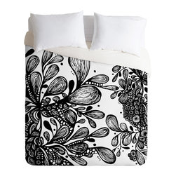 DENY Designs - Julia Da Rocha Wild Leaves Duvet Cover - Turn your basic, boring down comforter into the super stylish focal point of your bedroom. Our Luxe Duvet is made from a heavy-weight luxurious woven polyester with a 50% cotton/50% polyester cream bottom. It also includes a hidden zipper with interior corner ties to secure your comforter. it's comfy, fade-resistant, and custom printed for each and every customer.