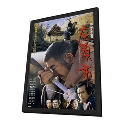 Zatoichi - The Blind Swordsman 11 x 17 Movie Poster - Japanese Style A - in Delu - Zatoichi - The Blind Swordsman 11 x 17 Movie Poster - Japanese Style A - in Deluxe Wood Frame.  Amazing movie poster, comes ready to hang, 11 x 17 inches poster size, and 13 x 19 inches in total size framed. Cast: Shintaro Katsu