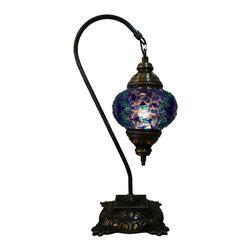 Jay Bazaar - Exotic Night Lamp - Midnight Swan - Authentic Desk Lamp , Moroccan Style Lamp , Night Lamp, Exotic Lamp