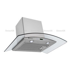 XtremeAIR - XtremeAir 36 Inch Wall Mount Stainless Steel Range Hood D0236-B - XtremeAir 36 Inch Wall Mount Range Hood with 750 CFM Ultra Quiet Motor, Centrifugal Squirrel Cage Blower, 8.0mm Canopy Temper Glass, Flat Stainless Steel Baffle Filters, Plastic Motor Oil Cup Container, 6 speeds sensitive touch button electronic control with Led Display.
