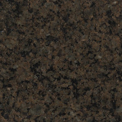 SenSa Namib Granite Kitchen Countertop Sample - These countertops are not my ideal, but this is the color I inherited. And for the sake of being green and giving my pocketbook a rest, I'm going to try to work them into my new kitchen design. My thought is to surround them with white cabinetry and a white backsplash so that they will mesh well with the dark bronze hardware and black accents in the lighting. I'll also rest a butcher block on top for cutting.