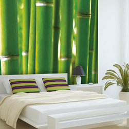 Wall murals - Create a zen and relaxing atmosphere using our Bamboo reusable wall mural. This high resolution print displaying beautiful shades of green is ideal for those looking to go big on their decor. Starts at $85.