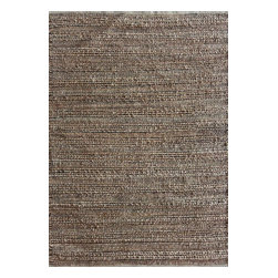 Jaipur Rugs - Naturals Solid Pattern Cotton/Jute Taupe/Gray Area Rug (2.6 x 4) - Handwoven in Jute and soft fibers and materials like; Chenille, rayon yarn and cotton, the Himalaya collection has a variety of textures and looks, all at home in a variety of living environments.