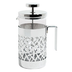Alessi - Alessi 'CACTUS!' Coffee Press - Keep pressing on. This polished coffee press features a lovely lattice pattern and a graceful handle, as well as a sturdy plunger to send the grounds down, getting you once stop closer to waking up.