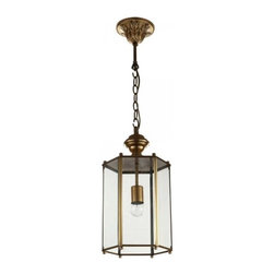 ParrotUncle - Glass Lantern Shaped Brass Pendant Lighting - Brighten up your dinning room, living room or kitchen with this lovely latern shaped pendant light. Finished in polished antique brass, this pendant light is a great lighting fixture to enhance your home décor. The dynamic and creative design of this lamp makes it both visually stunning and functional.