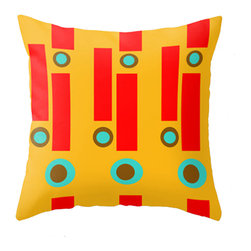 Crash Pad Designs Mod Throw Pillow - A fun pillow can change an entire room. style your room with our mod pillows. On a sofa, a  chair, or bed it's sure to make you smile. Double sided print. Woven poly poplin w/ a hidden zipper closure & a polyester fill insert. Machine washable. 18x18 Your pillow is made to order, allow 7-10 days for shipping