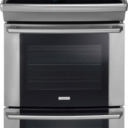 """Electrolux - Wave-Touch Series EW30IS65JS 30"""" Slide-In Induction Range With 4 Cooktop Element - The Electrolux EW30IS65JS 30 in slide-in induction range with 42 Cu Ft Self-Cleaning Oven Ceramic Glass Cooktop Wave-Touch Controls and Lower Oven features the Perfect Covect and the Perfect Pair Oven Convection ovens feature a fan that circulates ai..."""