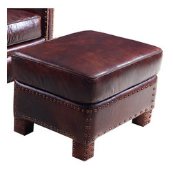 Hooker Furniture - Hooker Furniture Parthenon Temple-87 Ottoman - Developed by one of America's premier manufacturers to offer quality furniture at affordable prices. Each piece is meticulously hand-crafted using the most exquisite leathers in the world. The Parthenon Temple-87 Ottoman is crafted using 087 Parthenon Temple leather.