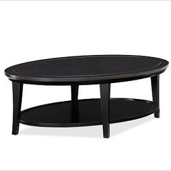Metropolitan Oval Coffee Table, Black