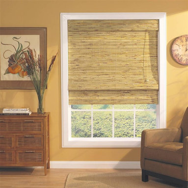 Lewis Hyman - Kona Roman Shade w Built-In Valance in Natura - Choose Size: 71 in. W x 64 in. LThe textural look of this woven bamboo and wood Roman shade will add visual interest to any decor. The shade is available in your choice of sizes and is enhanced by a natural finish that will be a warm, island inspired accent. Made from Bamboo and Wood. 6 in. built-in valance. Light filtering provides privacy. Energy-efficient Insulation. Elegant and lushy shade. Easy to install. Minimal assembly requiredInviting relaxation and soothing cool breezes into