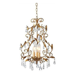 MIDWEST CBK - Gold Leaf Chandelier 25W Max - Gold Leaf Chandelier. 25W Max. Shop home furnishings, decor, and accessories from Posh Urban Furnishings. Beautiful, stylish furniture and decor that will brighten your home instantly. Shop modern, traditional, vintage, and world designs.
