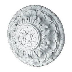 Hickory Manor House - Deep Acanthus Ceiling Medallion (Unfinished) - Finish: UnfinishedVintage original. Custom made by artisans unfortunately no returns allowed. Enhance your decor with this graceful ceiling medallion. Made in the USA. Made of pecan shell resin. 20 in. Dia. x 7.5 in. H (15 lbs.)