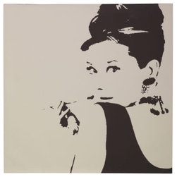 Pjätteryd Picture, Audrey Hepburn - Here's the perfect 35-by-35-inch square canvas of Ms. Hepburn herself. The extra large size is perfect for filling up wall space.