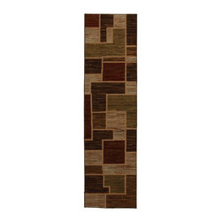 """Mohawk - Contemporary Woodstock Hallway Runner 2'1""""x7'10"""" Runner Rust-Brown Area Rug - The Woodstock area rug Collection offers an affordable assortment of Contemporary stylings. Woodstock features a blend of natural Rust-Brown color. Machine Made of Olefin the Woodstock Collection is an intriguing compliment to any decor."""