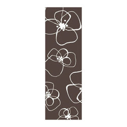"""Surya - Textila Hand Woven Wool Runner Rug in Chocolate / Ivory (2'6"""" x 8') - From elegant patterns to modern colors this Hand Woven Wool Runner Rug is sure to be a hit! Impress your guests with your sense of trendy style when you bring this Textila rug into your room. Crafted from wool, finished in Chocolate and Ivory.    Features:"""