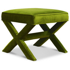 modern ottomans and cubes by Jonathan Adler