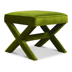 Jonathan Adler X-bench, Ireland Avocado - X-benches are forever stylish in any space.