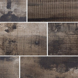 Old Wood Walnut Moka - Old Wood Porcelain Tile is available in 9x36 and 6x36. Made in Italy
