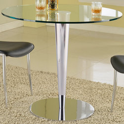 Chintaly Imports - Grand Round Glass Dining Table - Grand Round Glass Dining Table
