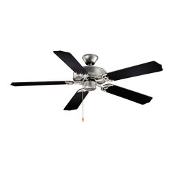 "Vaxcel - Vaxcel 52"" Medallion Energy Star Ceiling Fan - 52"" Medallion Energy Star Ceiling Fan Flash Silver"