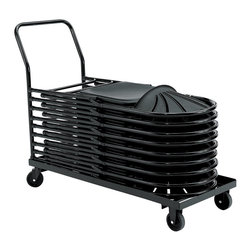 National Public Seating - National Public Seating Dolly for 1100 Chair Transport Storage Accessories - NPS's Dolly for 1100 Series Folding Chairs stores and moves up to 26 chairs, so you can break down an entire training room in a snap. This 11-gauge steel chair caddy features four-inch casters (two swivel and two fixed) and an extended handle to make transportation easy.