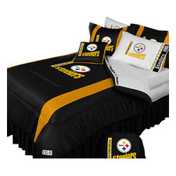 Store51 LLC - NFL Pittsburgh Steelers Football Full-Double Bedding Set - Features: