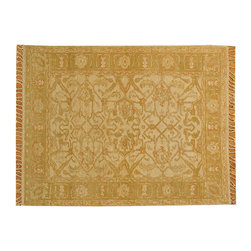 Ivory Oushak Oriental Rug Hand Woven 4' x 5' 100% Wool Flat Weave Rug SH16374 - Hand Knotted Oushak & Peshawar Rugs are highly demanded by interior designers.  They are known for their soft & subtle appearance.  They are composed of 100% hand spun wool as well as natural & vegetable dyes. The whole color concept of these rugs is earth tones.