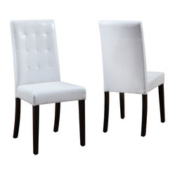 Modus Urban Seating Leatherette Tufted Parsons Chair [Set of 2]
