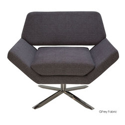 """Nuevo Living - Sly Lounge Chair, Dark Grey Wool - Midcentury modern is all the rage these days, and this sophisticated lounge chair strikes the perfect retro note. Pick from three shades of gray fabric and then sit back and relax in style. Maybe mix yourself a martini and dig into a """"Mad Men"""" marathon. You'll fit right in."""