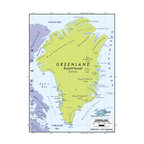 Murals Your Way - Greenland 2 Wall Art - A map by EGLLC Maps, the Greenland wall mural from Murals Your Way will add a distinctive touch to any room