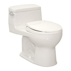 TOTO - TOTO MS863113E#11 Eco Supreme Round One Piece Toilet with SoftClose Seat, Coloni - TOTO MS863113E#11 Eco Supreme Round One Piece Toilet with SoftClose Seat, Colonial White When it comes to Toto, being just the newest and most advanced product has never been nor needed to be the primary focus. Toto's ideas start with the people, and discovering what they need and want to help them in their daily lives. The days of things being pretty just for pretty's sake are over. When it comes to Toto you will get it all. A beautiful design, with high quality parts, inside and out, that will last longer than you ever expected. Toto is the worldwide leader in plumbing, and although they are known for their Toilets and unique washlets, Toto carries everything from sinks and faucets, to bathroom accessories and urinals with flushometers. So whether it be a replacement toilet seat, a new bath tub or a whole new, higher efficiency money saving toilet, Toto has what you need, at a reasonab