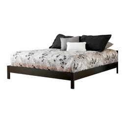 Fashion Bed - Fashion Bed Murray Modern Platform Bed in Black Finish-King - Fashion Bed - Beds - B51096 - Looking for the basics in a modern black platform bed? The Murray Modern Platform Bed from the Fashion Bed Group is the frame for you. This plain black platform bed is ideal for minimalist or contemporary urban spaces.