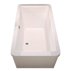 Spa World Corp - Atlantis Tubs 3267AS Aquarius 34x67x24 Inch Freestanding Soaker Bathtub - The Aquarius model features a rectangular, minimalistic design. The rectangular setting maximizes the use of internal volume, allowing bathers to enjoy the deep soak.  Soaking bathtubs are a more traditional style bath tub without water or air systems.  Soaking in warm water will sooth the body, boost cardiac output, lower blood pressure and improve circulation.  Water also hydrates the skin and helps pores eliminate toxins.  Freestanding tubs are meant to be proudly displayed rather than crowded in a corner and add character to your bathroom.  Freestanding tubs are meant to be proudly displayed rather than crowded in a corner and add character to your bathroom.