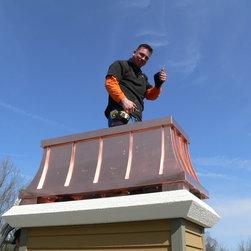 Chimney King, LLC - Lake Geneva - After Stucco Birdsmouth Chase Pan and Beautiful Decorative Shroud was installed.
