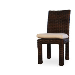 Lloyd Flanders Contempo Collection Arm Dining Chair - Lloyd Flanders Contempo collection arm dining chair with cushion available in Aged Walnut Custom Vinyl.