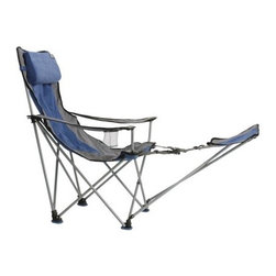 Travel Chair with Footrest, Blue - Okay, you've got to sit down sometime! I love these travel chairs for everything from tailgating and camping to going to my son's ballgames. A few of these are just about always in my trunk.