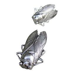 DaRosa Creations - Cicada Drawer / Cabinet Knob, Silver - Insect (Cicada) drawer knobs in Silver