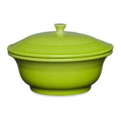 Fiesta - Fiesta 70-Ounce Covered Casserole Dish in Lemongrass - The bold color and chic style of this fully vitrified ceramic industrial strength dinnerware turns every meal into a fiesta.These stunning glazed dinnerware pieces will create a table presentation that is irresistible and fun.