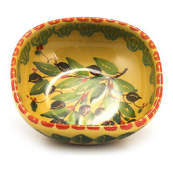 Artistica - Hand Made in Italy - Marikla: Cereal Bowl Square - Olive Design - The all New Marikla is truly a distinctive collection of table top and gift items.