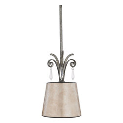 "Quoizel - Quoizel KD1507MM Kendra Traditional Pendant Light - A true modern classic, this design is sleek and sinewy yet traditional enough for most homes. It features elongated, ice crystal drops accented with small floral clusters, and oyster mica shades that illuminate your home with natural elegance. Includes (2) 6"" and (2) 12"" rods."