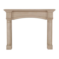 "Pearl Mantel - The Princeton Fireplace Surround, Unfinished, 48"" - A modern classic. This fireplace surround has simplified traditional design to suit almost any hearthside style. Available beautifully finished or unfinished, awaiting your artistry."