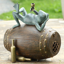 Connoisseur Frog Garden Sculpture with Bluetooth Speakers - Shipping is included in the price!