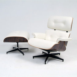 Modern Classics - Eames: Lounge Chair & Ottoman Reproduction - Features: